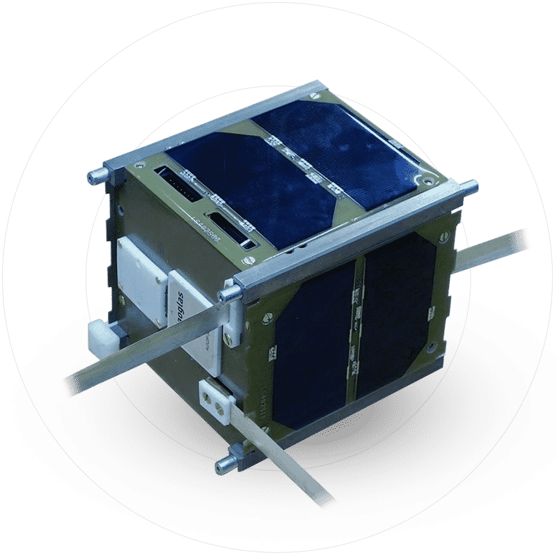 Cut cell solar panels for satellite Metsolar visited space