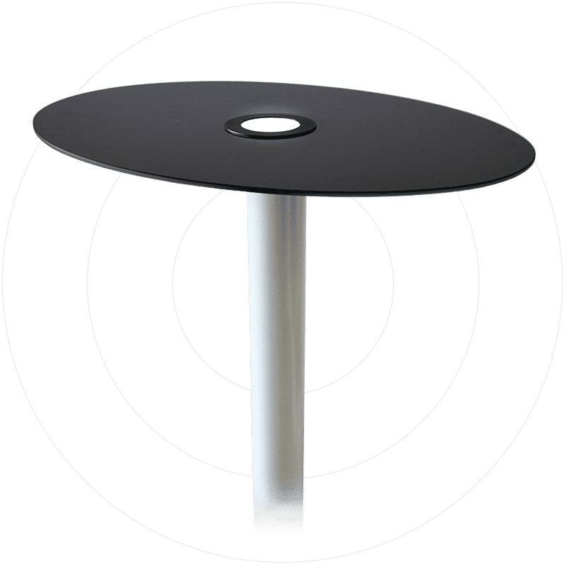 Metsolar product integrated PV PIPV Solar table with custom solar panels glass backsheet