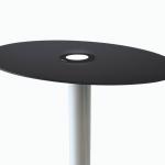 Custom made solar modules for solar table with all black solar cells blending design