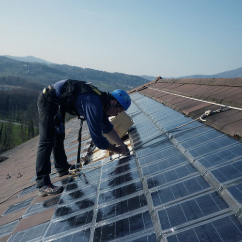 Metsolar product integrated PV PIPV Solar Roof tiles with custom solar panels glass backsheet LUXOL