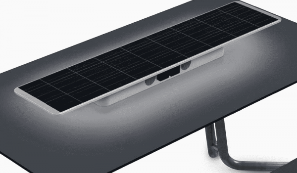 Metsolar - Solar outdoor table for Outsider, custom made PV module, custom solar module, custom solar panel