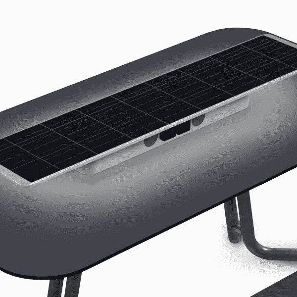 Metsolar - Solar outdoor table for Outsider, custom made PV module, custom solar module, custom solar panel