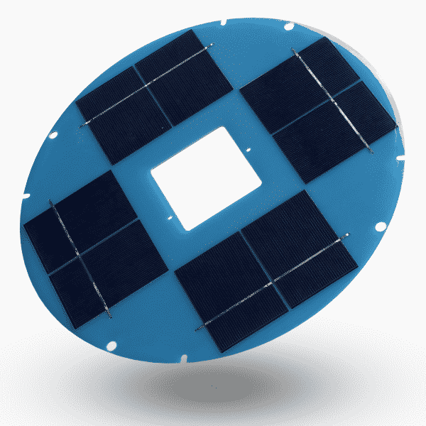 Custom marine solar panel with PCB backsheet from Metsolar